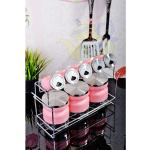 9 darabos fűszer tároló készlet rózsaszín