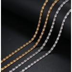 Acél nyaklánc görög/csiga mintával arany vagy ezüst színben