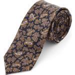 Barna és lila kasmírmintás selyem nyakkendõ