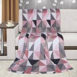 Bellatex Kemping Plus Háromszögek takaró, rósaszín, 150 x 200 cm