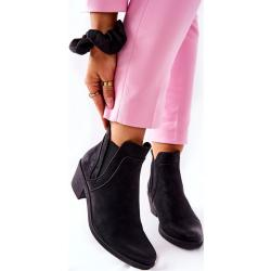 Női Fekete Szigetelt Törpesarkú cipők Bebújós kapoccsal