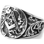 Borostyánlevél acélgyűrű