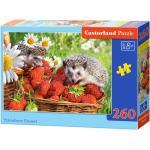 Castorland 260 db-os puzzle - Sünik és eper (B-27484)