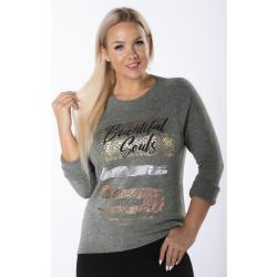 casual sweater with decorative print