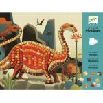Csillogó dinoszaurusz kreatív készlet gyerekeknek - Djeco