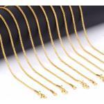 Csillogó vékony acél nyaklánc arany vagy ezüst színben