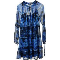 Női Kék Desigual Nyári Hosszu ujjú L-es Bélelt Nyári ruhák