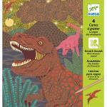 Dinoszauruszok kaparós kreatív szett - Djeco