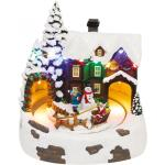 Dioráma havas ház, rénszarvas-szán