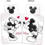 Disney Minnie és Mickey ágyneműhuzat love 140x200cm 70x90cm