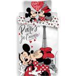 Disney Minnie és Mickey egér az Eiffel toronynál 2 részes pamut-vászon gyerek ágyneműhuzat 50x70 cm párnahuzattal