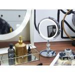Ezüst Asztali Sminktükör LED Világítással ø 20 cm LAON