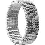 Ezüst tónusú rugalmas acélgyűrű