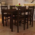 Fa Étkezõ Asztal 4 Székkel   étkezõ garnitúra Barna
