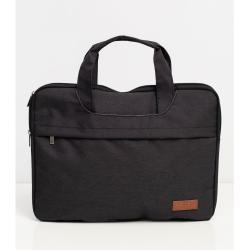 Fekete szövet laptop táska