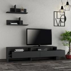 Gara antracitszürke tv szekrény 180 x 42 x 32 cm