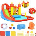 Happy Hop felfújható PVC légvár csúszdával és medencével 410x385x220cm