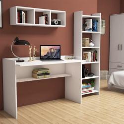 Hera fehér íróasztal és könyvespolc