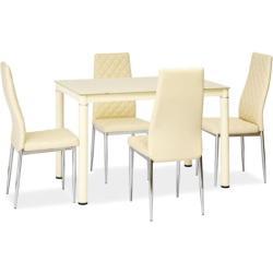 HILMA 110x70 étkezõasztal, 110x75x70, krem