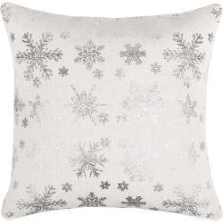 Hópehely karácsonyi huzat, ezüst, 40 x 40 cm