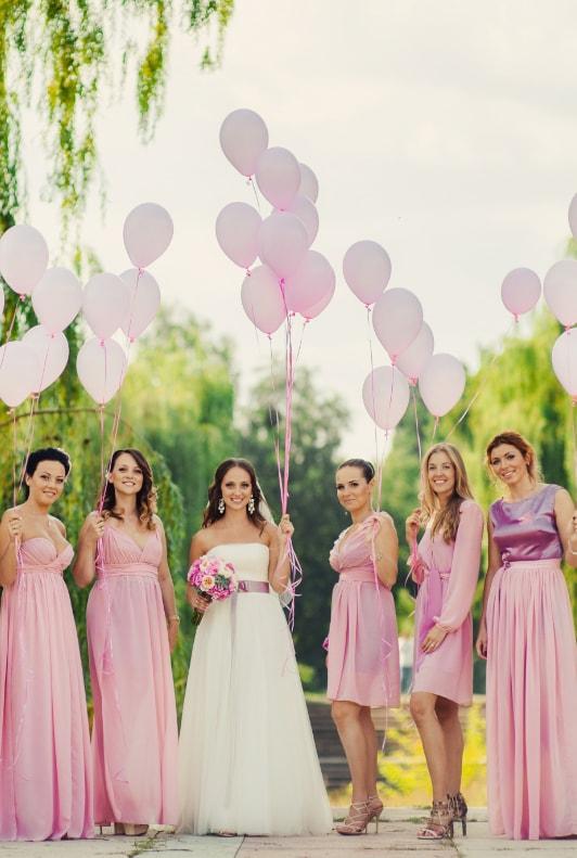 Rózsaszín koszorúslányruhák