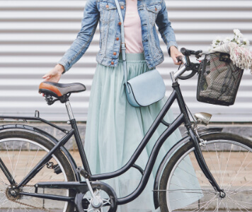 Divatos outfit kerékpárhoz