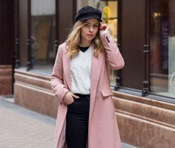 Rózsaszín kabát vagány stílusban