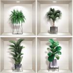 Indoor Plants 4 db-os 3D falmatrica szett - Ambiance