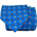 John & Paul John&Paul kék nyakkendõ két színű virágmintával