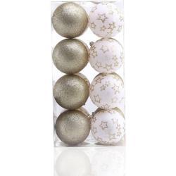 Karácsonyi dekoráció készlet - Luna - 16 db - arany-fehér (karácsonyfa dísz)