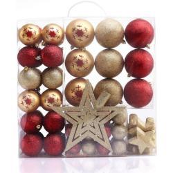 Karácsonyi dekoráció készlet - Susi - 76 db - piros-arany (KARÁCSONYFA DÍSZ)