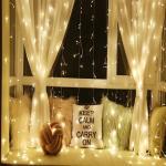 Karácsonyi fényfüggöny 3 x 3 m/300 LED - meleg fehér