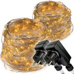 Karácsonyi fényfüzér NEXOS 2db 20m/200x LED - meleg fehér