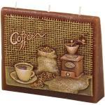 Kávé boríték illatgyertya, 13 x 11 x 4 cm