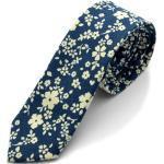 Kék / fehér virágmintás nyakkendõ