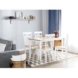 Klasszikus bõvíthetõ étkezõasztal fehér színben 119 x 75 cm LOUISIANA