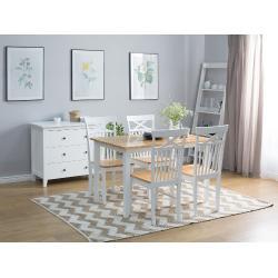 Klasszikus étkezõasztal fehér színben 120 x 75 cm HOUSTON