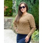 Kötött barna pulóver (S/M-L/XL)