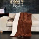 Lamby extra meleg serpa takaró - 170 210 cm - barna - két oldalas