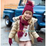 Lányka kapucnis téli kabát / arany 6e - 3 év 4418 - 66
