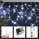 LED-es jégcsap fényfüggöny 2 méretben, hidegfehér