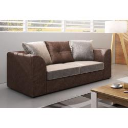 LENNA 2 kanapé, GlitzCream/Brown