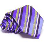 Lila nyakkendõ - kék-citromsárga csíkos