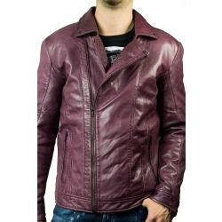 Férfi Bőr London Brando Motoros dzsekik
