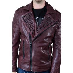 London Brando Tigha Biker Men Rose veg kabát