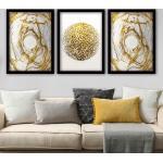 Lulu színes keretezett dekor festmény (3 darab)