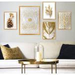 Lulu színes keretezett dekor festmény (5 darab)