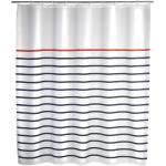 Marine fehér-kék zuhanyfüggöny, 180 x 200 cm - Wenko