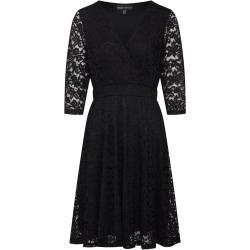 Mela London Koktélruhák 'Delicate Lace Long Sleeve Dress' Fekete