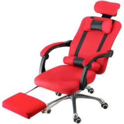Menedzser szék Lábtartóval, Piros - Ultra kényelmes irodai forgószék